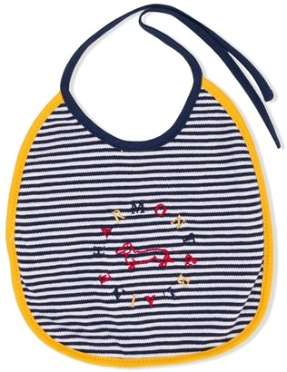 Harmont & Blaine Junior Striped Logo Embroidered Bib