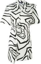 Emilio Pucci knotted print dress - women - Cotton - 40