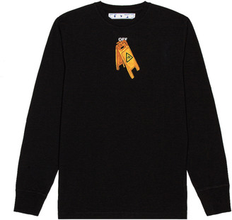 Off-White Pascal Skeleton Long Sleeve Tee in Black | FWRD