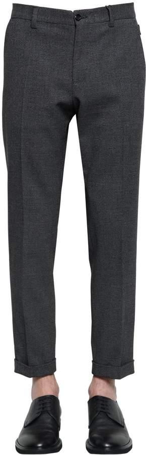 Dolce & Gabbana 17cm Stretch Cotton Wool Pants