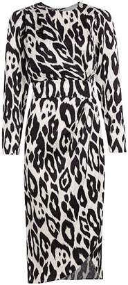 Ronny Kobo Jade Leopard Print Midi Dress