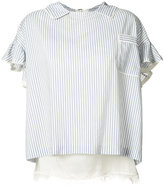 Sacai striped blouse - women - Nylon/Polyester/Cupro - 2