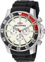 Seapro Men's 'Scuba Explorer' Quartz Stainless Steel Casual Watch, Color:Black (Model: SP8330)