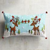Pier 1 Imports Reindeer Blue Lumbar Pillow