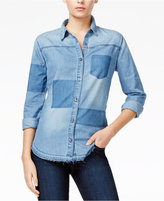 Joe's Jeans Kristna Patched Denim Shirt