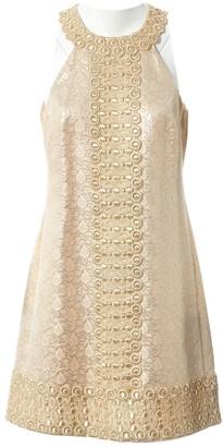 Michael Kors Gold Cotton - elasthane Dresses