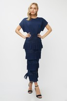 Thumbnail for your product : Little Mistress Aliza Navy Tiered Lace Midaxi Dress