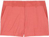 Colby silk-trimmed brushed-twill shorts