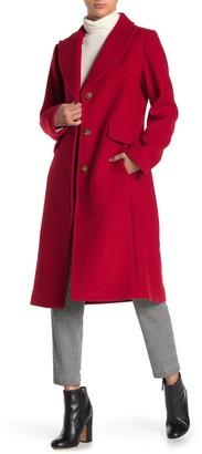 Kate Spade Wool Blend Notch Collar Coat