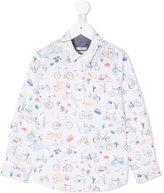 Paul Smith bicycles print shirt - kids - Cotton - 2 yrs