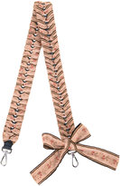 Fendi floral bow-detail keyring - women - Cotton/Calf Leather - One Size