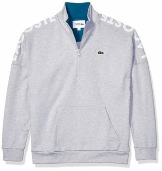 Lacoste Mens Sport Long Sleeve 1/2 Zip Logo Sweatshirt Sweatshirt
