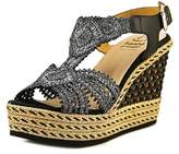 Kanna Kv7266 Open Toe Canvas Wedge Sandal.