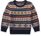 Ralph Lauren 2-7 Suede-Trim Wool-Blend Sweater