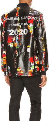 Comme des Garcons Bomber Jacket in Black & Multi | FWRD
