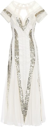 Temperley London Moondrop Sequined Chiffon And Tulle Midi Dress
