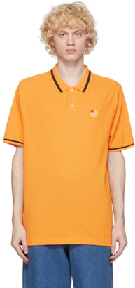 Loewe Orange Anagram Polo Shirt