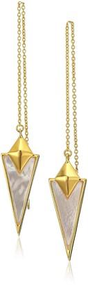 Noir Prismatic Gold Drop Earrings
