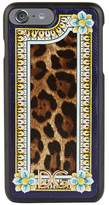 Dolce & Gabbana Majolica Leopard Print iPhone 7+ and 8 Phone Case