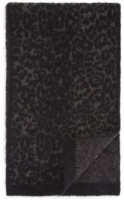John Varvatos Mohair Leopard Jacquard Scarf