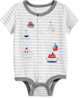 First Impressions Striped Boats Cotton Creeper, Baby Boys (0-24 months), Only at Macy's