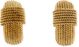 Roberto Coin Woven Clip On Earrings