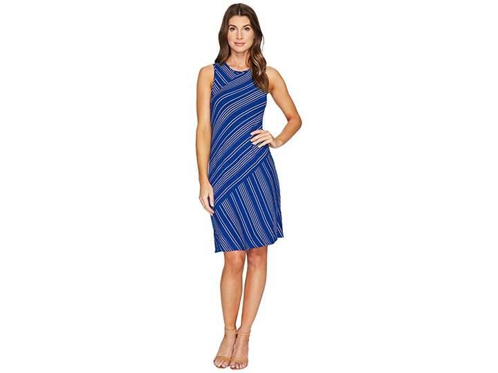 Mod-o-doc Boardwalk Stripe Asymmetrical Seamed Tank Dress Women's Dress