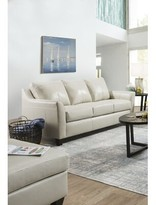 Thy Leather Sofa Bed Red Barrel Studio Upholstery Color: Cream