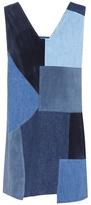 MiH Jeans Suede and denim Marten dress