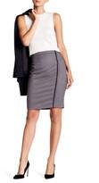 Susina Zip Detail Plaid Skirt (Petite)