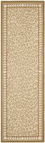 Safavieh Chelsea Collection HK15B Hand-Hooked Ivory Wool Runner, 2 feet 6 inches by 12 feet