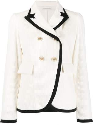 Stefano Mortari two-tone double-breasted blazer