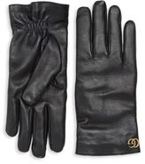 Gucci Cashmere & Leather Gloves