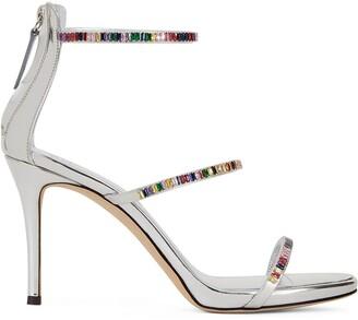 Giuseppe Zanotti Colorful crystal sandals