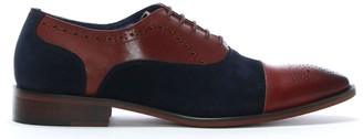 Daniel Cranmore Burgundy Leather & Suede Brogues
