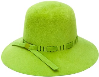 Gucci Leather Trimmed Hat