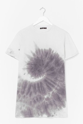 Nasty Gal Womens You're a Swirlwind Baby Tie Dye Tee - Grey