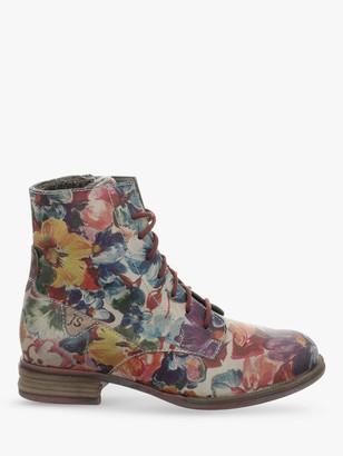 Josef Seibel Sanja 1 Leather Ankle Boots, Multi