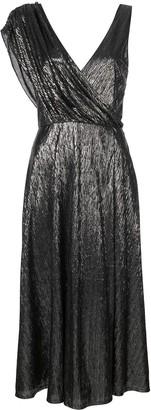 Alice + Olivia Roxy front drape dress