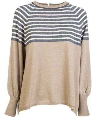 Brunello Cucinelli Stripe Detail Jumper