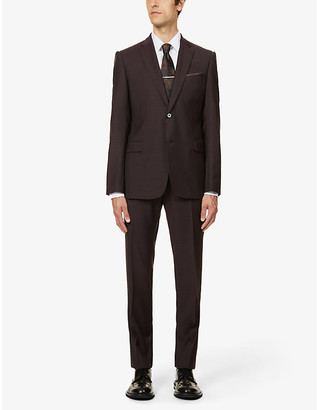 Emporio Armani Pindot slim-fit wool suit