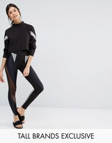 Quontum Tall Mesh Insert Color Block Detail Legging