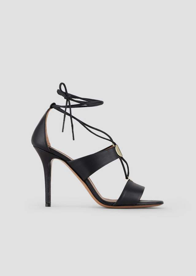 8062c521fc High Heel Sandals In Nappa Leather With Metallic Details