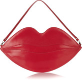 Big Kiss leather lips clutch