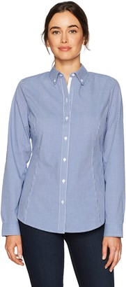 Cutter & Buck Women's Epic Easy Care Long Sleeve Gingham Collared Shirt