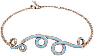 1986 Wiggle Wiggle Bracelet in Baby Blue & Rose