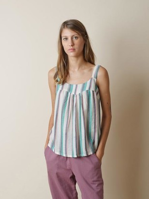 Indi&Cold - Striped Top With Stripes In Green - L