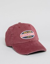 Abercrombie & Fitch Collegiate Cap In Burgundy
