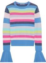Autumn Cashmere Striped Ribbed Cashmere Sweater