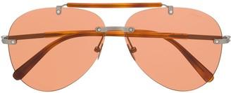 Brioni Aviator Shaped Sunglasses